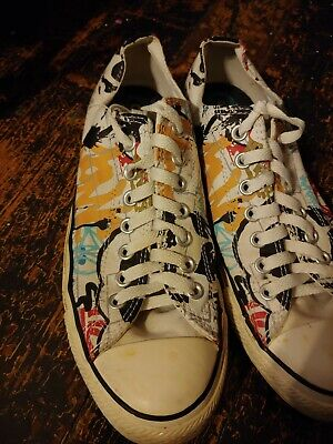 Details about Converse All Star Skate Shoes Unisex Women's Size 7 Men's 5 Graffiti Style