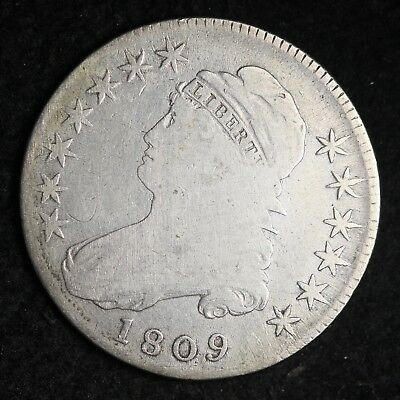 1809 Capped Bust Half Dollar CHOICE VG FREE SHIPPING E310 TFT