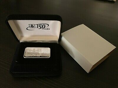SILVER INGOT, 150th ANNIVERSARY OF BANK OF THE PHILIPPINE ISLANDS WITH CASE RARE