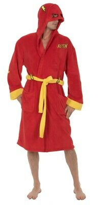 Flash Costume Bath Robe Fleece DC Comics Adult Bathrobe