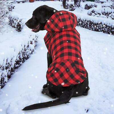 Dog Coat Vest Jackets Waterproof Cold Weather Large British Style Plaid Sweater