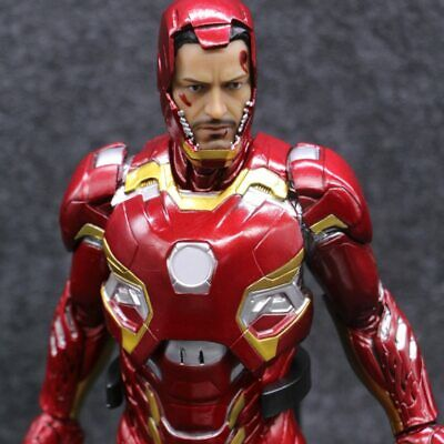 Marvel Avengers Ironman Iron Man 3 Mark XLV MK45 999 Limit 1:6 PVC Collectible