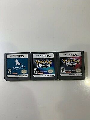 Authentic Nintendo ds game lot Of 3 ,Pokémon & Nintendogs TESTED WORKING