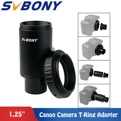 """1.25"""" CA1 Extension Tube M42 Thread T-Mount Adapter+T2 Ring for Canon Adapter"""