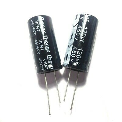 2PCS 450V 120uF 450Volt 120MFD Electrolytic Capacitor 18×35mm Radial
