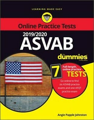 2019 / 2020 ASVAB for Dummies with Online Practice (Paperback or Softback)