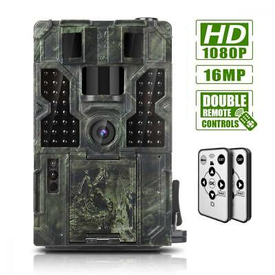 Trail Game Camera 16MP 1080P Waterproof Hunting Scouting Cam Wildlife