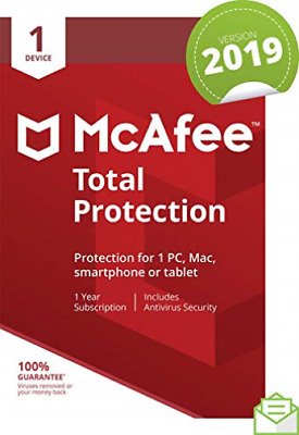 Mcafee Total Prot 1 Device Uk NEW