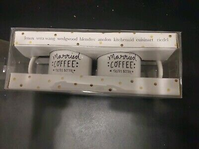 BED BATH AND Beyond Set Of 2 Married Coffee Tastes Better