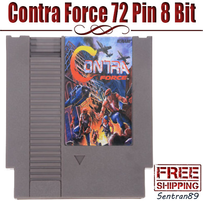 Contra Force Game Card Cartridge For NES Nintendo 72 Pins 8 Bit US