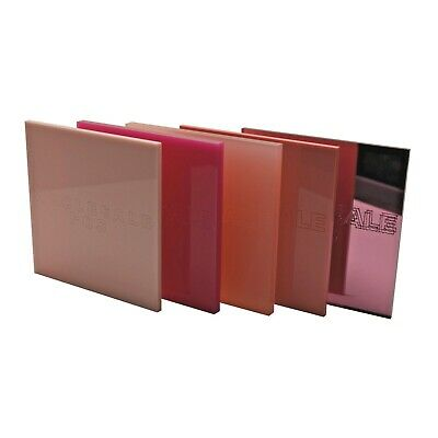 Pink Colour, Frosted & Mirror Perspex Acrylic Sheets - 3mm & 5mm Thickness