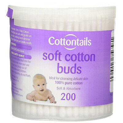 Cottontails Soft and Absorbent Cotton Buds for Delicate Skin - 200's