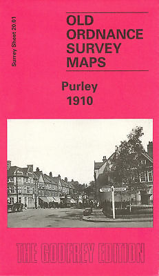 Old Ordnance Survey Map Purley 1910