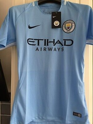 Manchester City Football Shirt - Short Sleeve - Nike - Small - New - £11.95