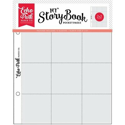 6x8 Inch Pocket Page - 2x2 Pockets (10 Sheets) (msbpp605)