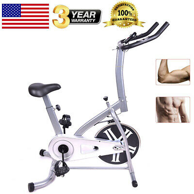 Stationary Bike Pro Cardio Fitness Exercise Bicycle Cycling Silvery Home Indoor