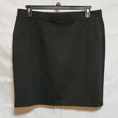Mario Serrani Italy Gray Stretch Straight Skirt with Slimming lining Size XL