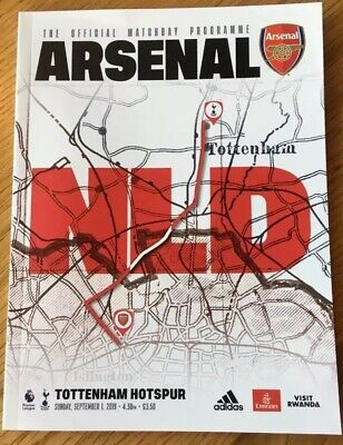 Arsenal vs Tottenham Hotspur, Premier League Official Match Programme 2019/20