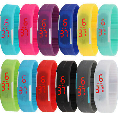 Multifunction LED Sport Electronic Digital Wrist Watch For Child Boy Girl Gifts