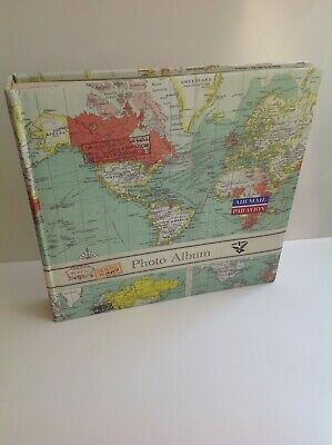 """Kenro Holiday Series Old World Map Memo 200 for 7/"""" x 5/"""" HOL119 UK Stock"""