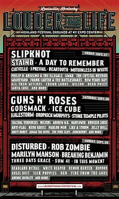 Louder Than Life General Admission 2 Tickets for Saturday, Sept 28 Guns n Roses