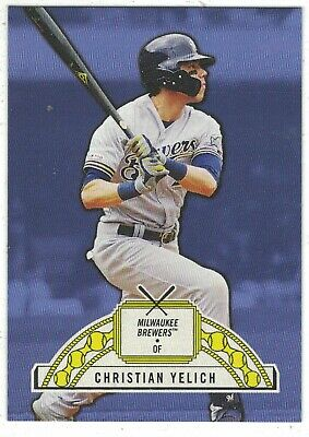 2019 Topps 582 Montgomery '51 Ringside #2 Christian Yelich Milwaukee Brewers