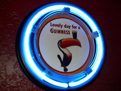 ***Guinness Stout Toucan Beer Bar Advertising Man Cave Blue Neon Wall Sign