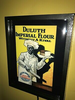 Duluth Imperial Flour Sambo Baker Kitchen Man Cave Adverising Lighted Sign