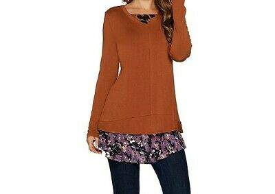LOGO by Lori Goldstein Knit Top-FSL40- TOP ONLY.....