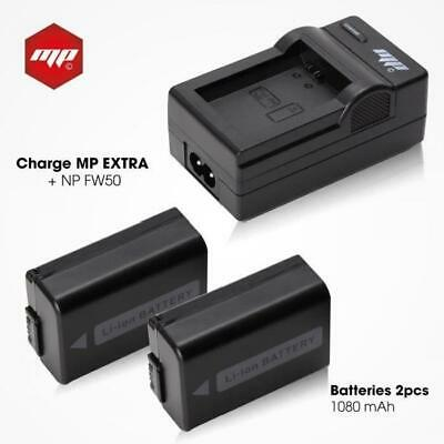 2 x batteries NP-FW50 . NPFW50 + chargeur pour Sony - MP EXTRA