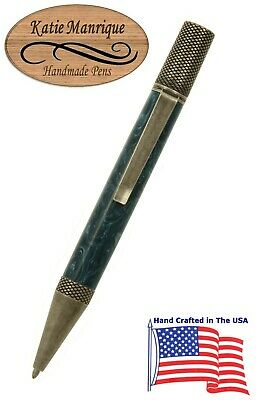 Exemplar Series Twist Action Ballpoint Pen with Antique Silver Trim / #486
