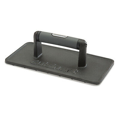 Heavy-Weight Durable Cast Iron Grill Press Pre-Seasoned BBQ Grilling Marks Tool