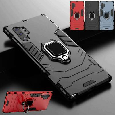For Samsung Galaxy Note 10 Plus 5G Case Ring Holder Shockproof Armor Stand Cover