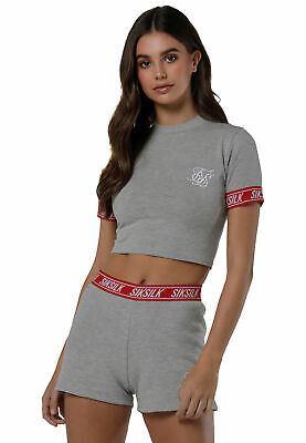 Siksilk Shorts Women Gym short SSW-1068 Grey Marl
