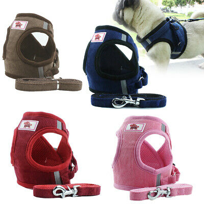 Non Pull Step-in Dog Harness Leash Pet Puppy Adjustable Soft Padded Jacket Vest