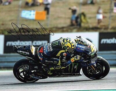 VALENTINO ROSSI Autograph 2019 SIGNED 14x11 Yamaha Photo 3 AFTAL COA VR46 Vale