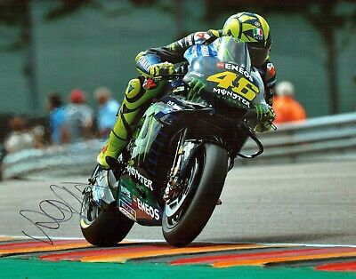 VALENTINO ROSSI Autograph 2019 SIGNED 14x11 Yamaha Photo 9 AFTAL COA VR46 Vale