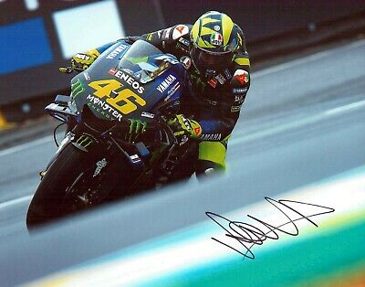 VALENTINO ROSSI Autograph 2019 SIGNED 14x11 Yamaha Photo 10 AFTAL COA VR46 Vale