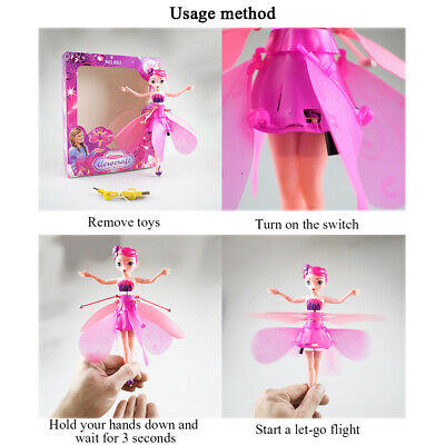 Induction Control Flying Fairy Princess Dolls Infrared Magic Toy Kids Child Gift