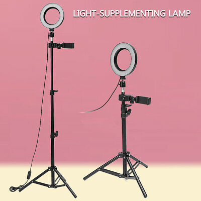 Dimmable LED Studio Camera Ring Light Makeup Photo Phone Video Lamp Selfie Stand