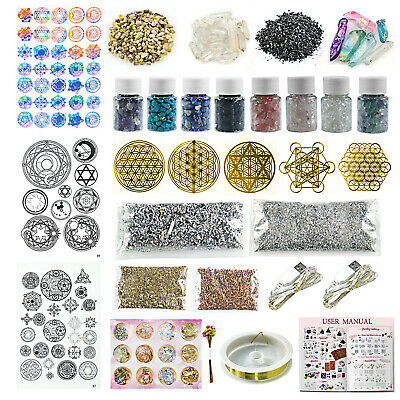 Resin Art Craft Making Supply Pack 36-Kit Orgone Pyramid Jewelry Epoxy Filler