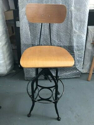 Industrial Wooden Bar Stools - Set Of 4 - Used Great Condition