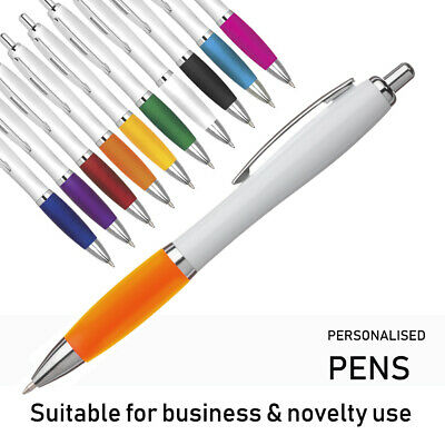 1//50//100//200 Bespoke Personalised Printed Ballpoint Pens with your Message Logo