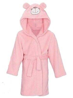 NEW GIRLS EX AVON AVA & FRIENDS FLUFFY PINK CHRISTMAS ROBE DRESSING GOWN Age 5-6