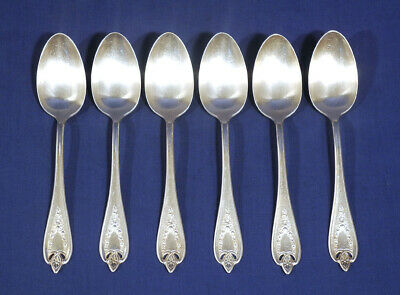 1847 Rogers Bros. Old Colony International Silverplate 6 Table Serving Spoons