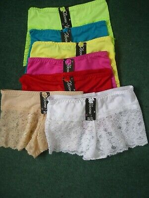 5121 ladies French knickers shorts 6 Pretty colours 10 to 14