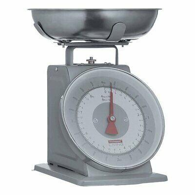 Typhoon 4kg GREY TRADITIONAL SCALES With BOWL Mechanical Kitchen Cooking