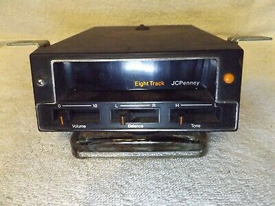VINTAGE TAPE PLAYER CLASSIC J.C. PENNY 8 TRACK TAPE PLAYER w/BRACKETS-VERY NICE
