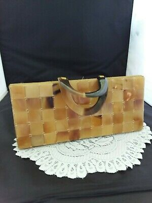 Vintage Craft Link Square Plastic Tile Purse