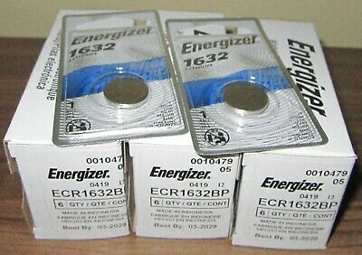 20 Single Packs of Energizer 1632 CR1632 Lithium Batteries